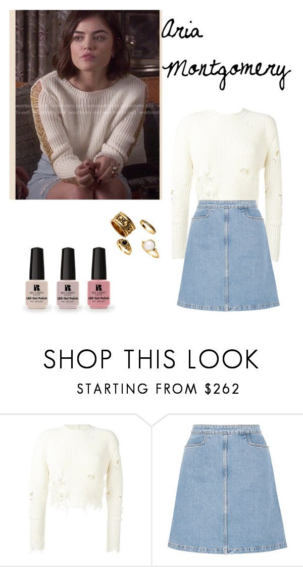 """""""Aria Montgomery #3"""" by sarahjane-19 ❤ liked on Polyvore featuring adidas Originals, M.i.h Jeans and Victoria's Secret"""