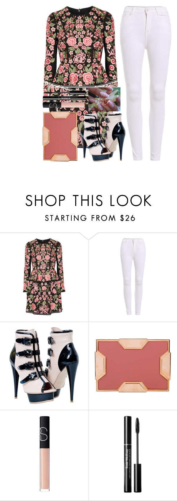 """Untitled #720"" by looks-lie ❤ liked on Polyvore featuring Needle & Thread, Lee Savage and NARS Cosmetics"