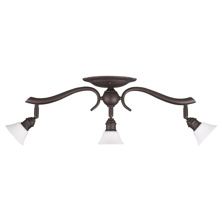 Canarm IT217A03ORB10 3 Light Addison Head Track Lighting Kit, Oil Rubbed Bronze