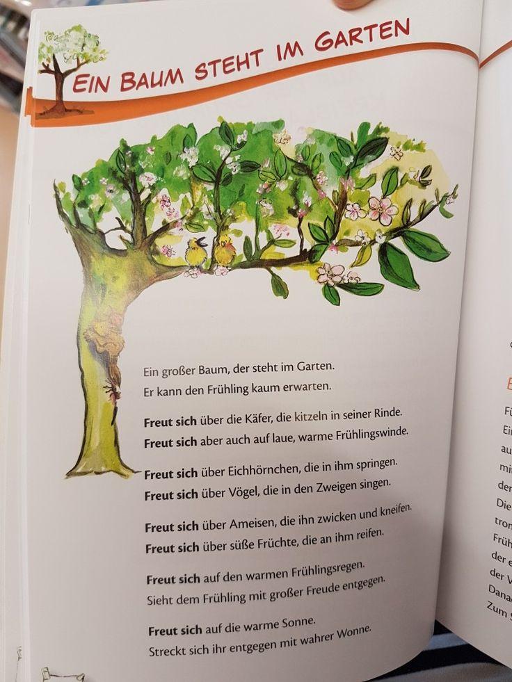 Ein Baum steht im Garten #frühling #Gedicht #kita #kindergarten #krippe #erzieherin