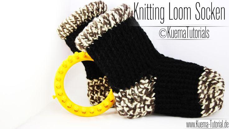Ihr wollt schöne warme Kuschelsocken für den Winter?! Dann macht euch welche mit dem Knitting Loom und meiner Anleitung. Ich erkläre euch natürlich Schritt f...