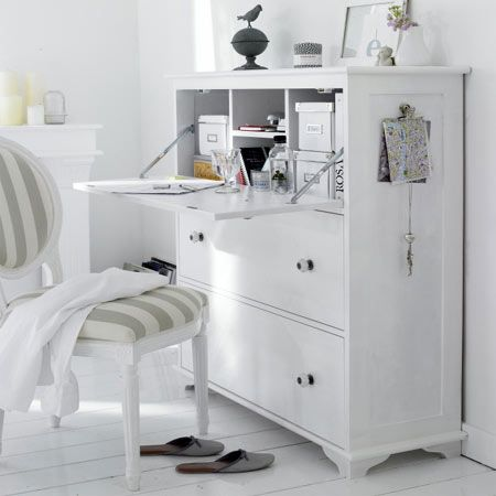 shabby chic painted and distressed furniture drop leaf bureau writing desk make this from an old. Black Bedroom Furniture Sets. Home Design Ideas