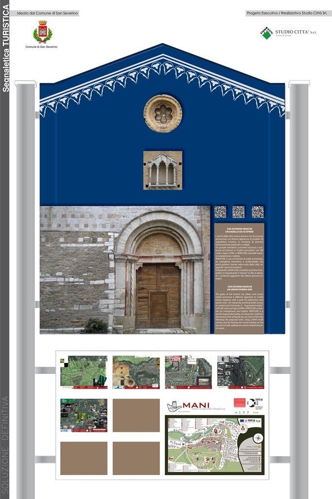 Progetto di portali interattivi per segnaletica turistica del Comune di San Severino Marche
