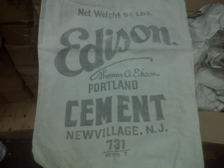 Portland Cement Bags : Images about thomas edison advertisements on