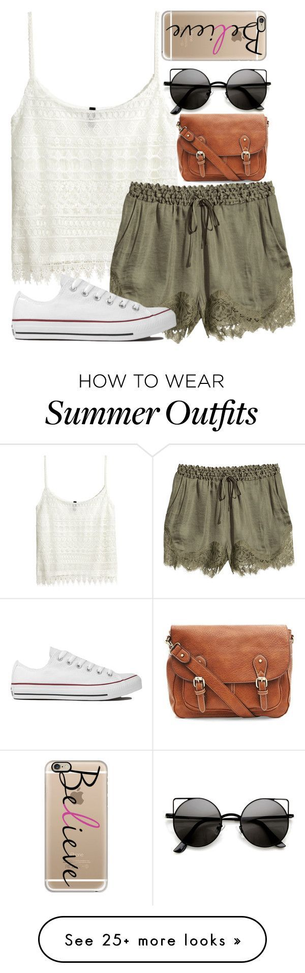 """Late Summer Outfit"" by xx-tropicalvibes-xx on Polyvore featuring H&M, Converse, Casetify and tropicaloutfits"