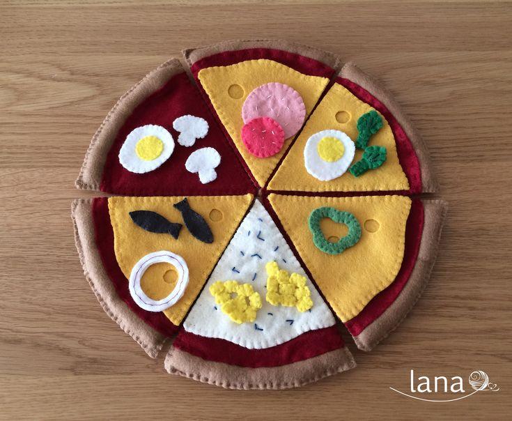 Pizza z filcu - Felt pizza free pattern