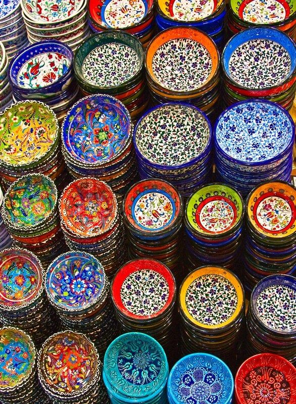 Classical Turkish ceramics on the market | Stock Photo | Colourbox on Colourbox