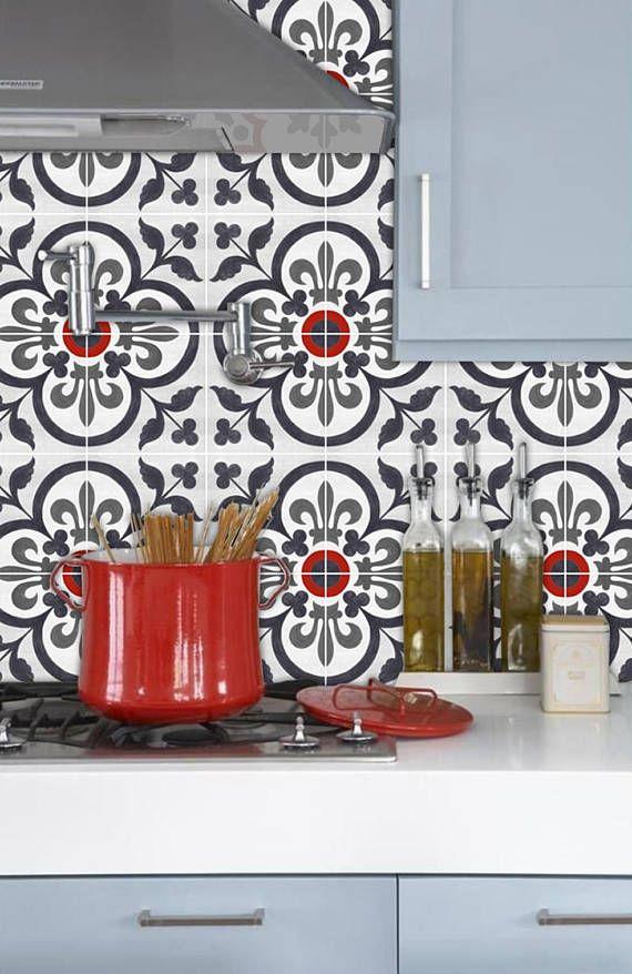 Kitchen And Bathroom Vinyl Tile Sticker Splash Back Removable