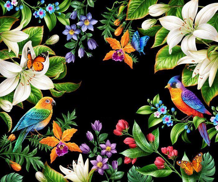 Схема вышивки «Тропические птицы» - Вышивка крестом