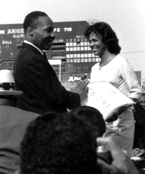 Martin Luther King Jr. & Dorothy Dandridge, 1963