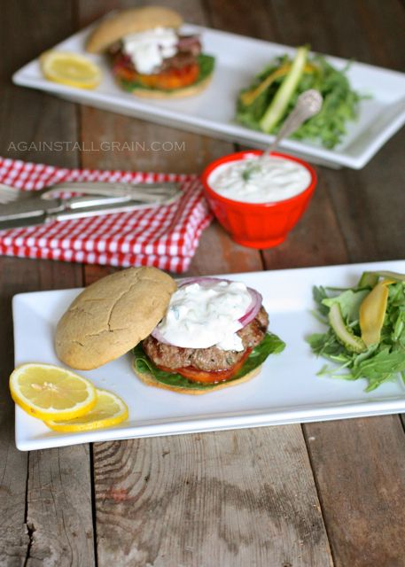 Greek Gyro Burger - Against All Grain
