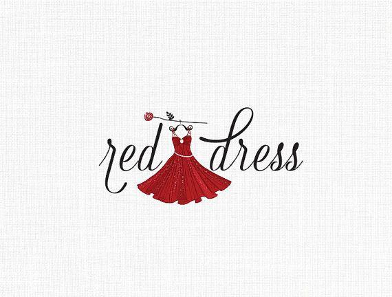 Custom Fashion Dress Logo Design / Red dress