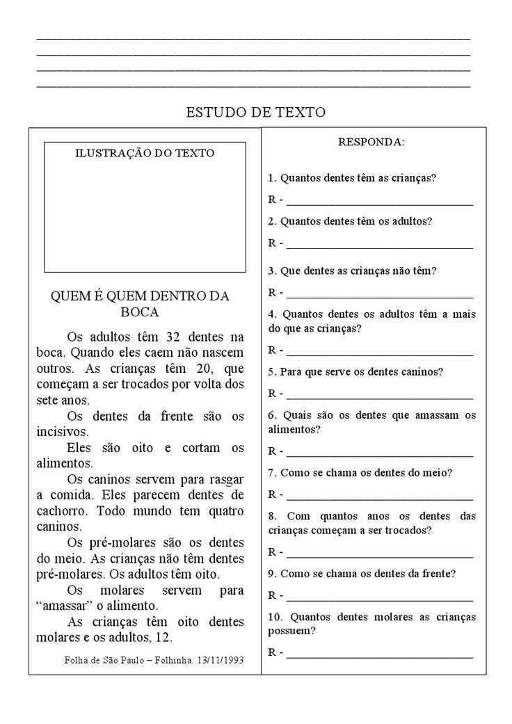 Veja pequenos textos para interpretação de texto, tudo com opção para imprimir sendo o conteúdo desenvolvido para o ensino fundamental do pr...