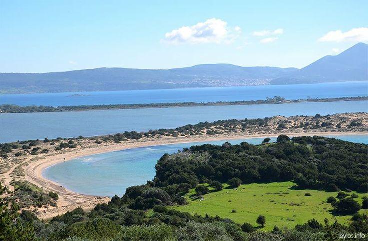 View to Voidokoilia beach Pylos, Messinia, Greece http://pylos.info