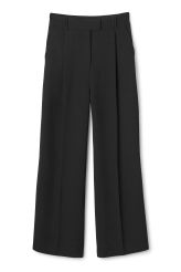 <p>The Lovisa High Waist Trousers are designed to sit high on the waist with flattering wide legs, press creases and two slanted front pockets.</p><p>- Size 38 measures 74 cm in waist circumference and have a 74,50 cm  inseam.</p>
