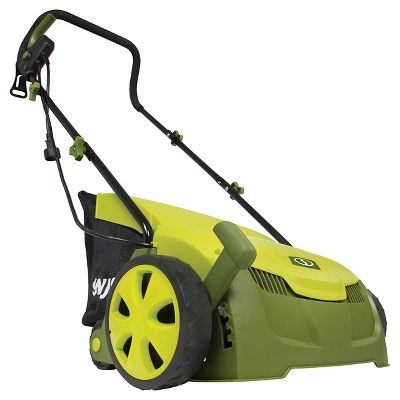 Sun Joe 13 Inch-Electric Scarifier + Lawn Dethatcher - Green