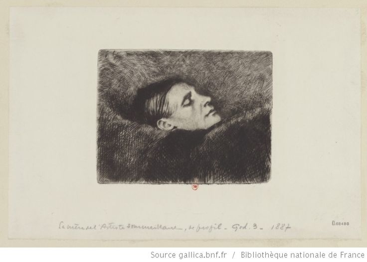La mère de l'artiste sommeillant, de profil : [estampe] ([2eme état]) / Félix Vallotton - 1