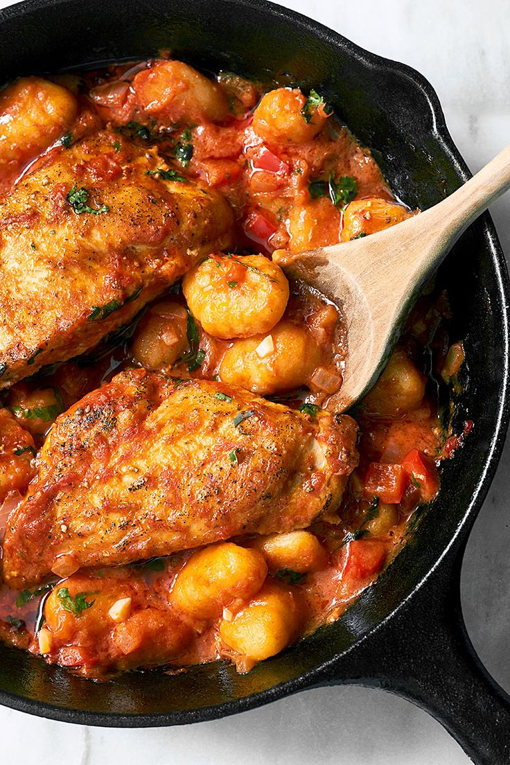 One-Pan Chicken Gnocchi with Tomato Butter Sauce
