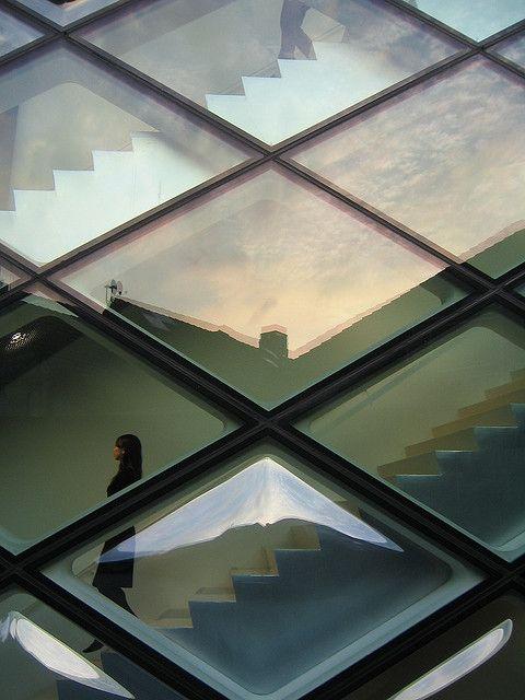 birdcagewalk:  redhousecanada:s-h-e-e-r: The Prada Building - Tokyo Symmetry by Mikael Colville-Andersen.