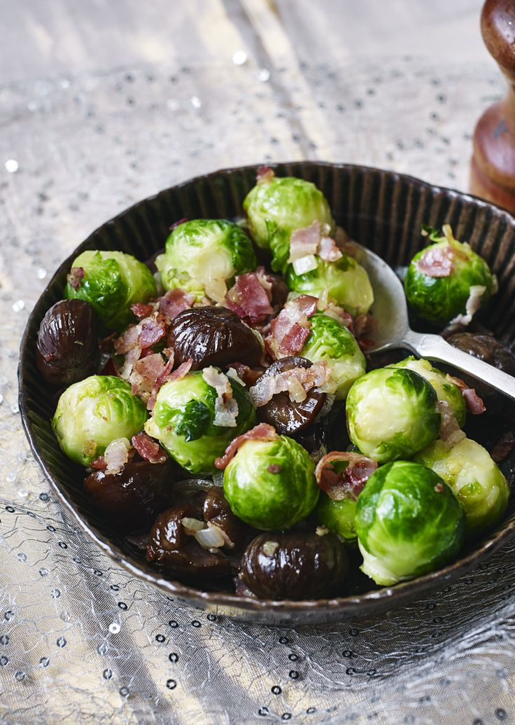 Bling up those sprouts with pancetta and chestnuts.