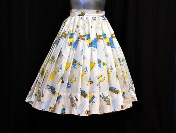 "Vintage ""It's a Small World"" homemade skirt. This is amazing"