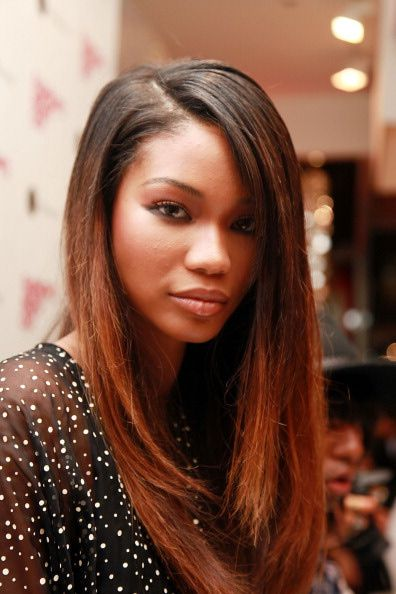ombre hair black women dark skinned   Pictures of Ombre Hair - Chanel Iman