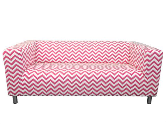 Custom IKEA Klippan Loveseat Slipcover in Pinky by FreshKnesting
