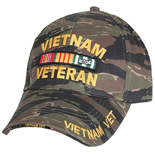 Buy Caps and Hats Vietnam Veteran Baseball Cap Tiger Stripe Camouflage Mens  Vet Hat Camo afc304136