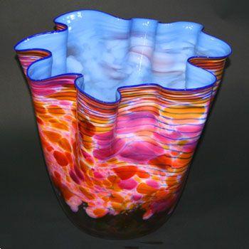 Dale CHIHULY (born 1941) Cerulean Blue Macchia Art-Glass(1988) - 'mobysnewt.com'   ✽❤❦❤✽GORGEOUS✽❤❦❤✽