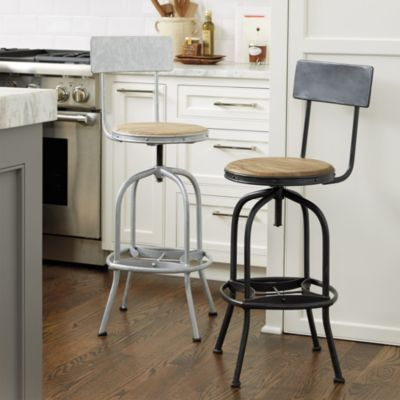 Allen Stool With Back Rest Vintage Stools With Backs