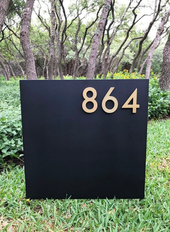 Tarrytown Yard Sign Square Sign On Stakes Address Plaque Address Sign House Numbers Modern Free Shipping Address Signs For Yard Address Sign House Numbers