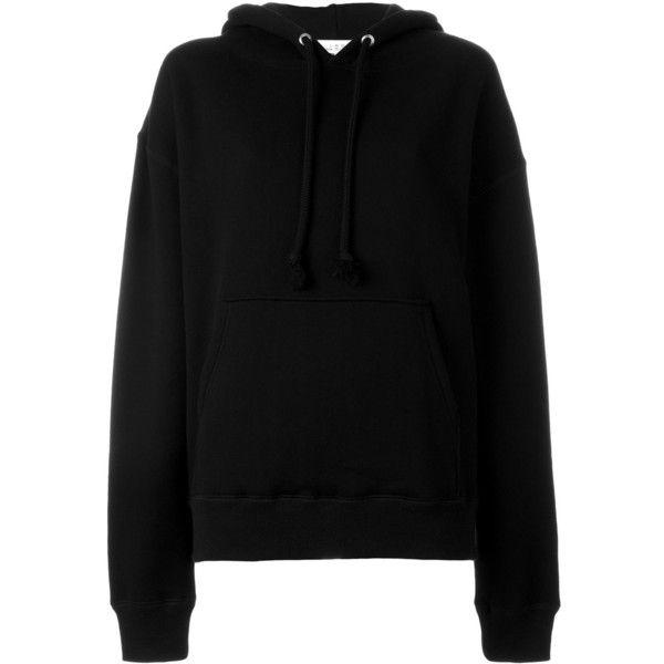 Iro Back Print Hoodie found on Polyvore featuring tops, hoodies, black, hooded sweatshirt, hooded pullover, sweatshirt hoodies, patterned tops and hoodie top
