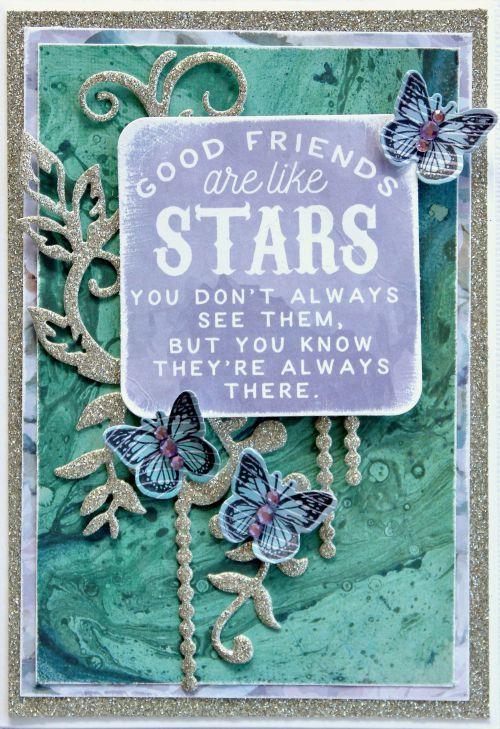Kaisercraft Mermaid Tails card. Cathy Cafun