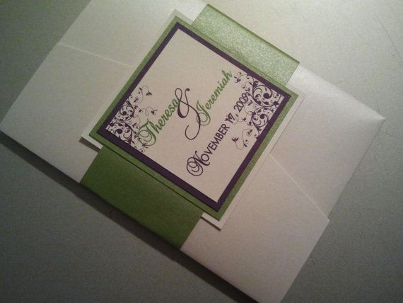All of My Love Wedding Invitation Set by theinspirednote on Etsy, $10.00