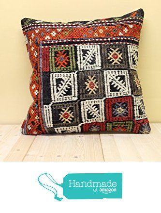 Turkish kilim pillow cover 16x16 inch (40x40 cm) Oriental Kilim pillow cover Home Decor Throw Pillow cover Natural Pillow Cover Cushion Cover from Kilimwarehouse http://www.amazon.com/dp/B019H52NDU/ref=hnd_sw_r_pi_dp_Z-9Dwb0EJ2WQ7 #handmadeatamazon