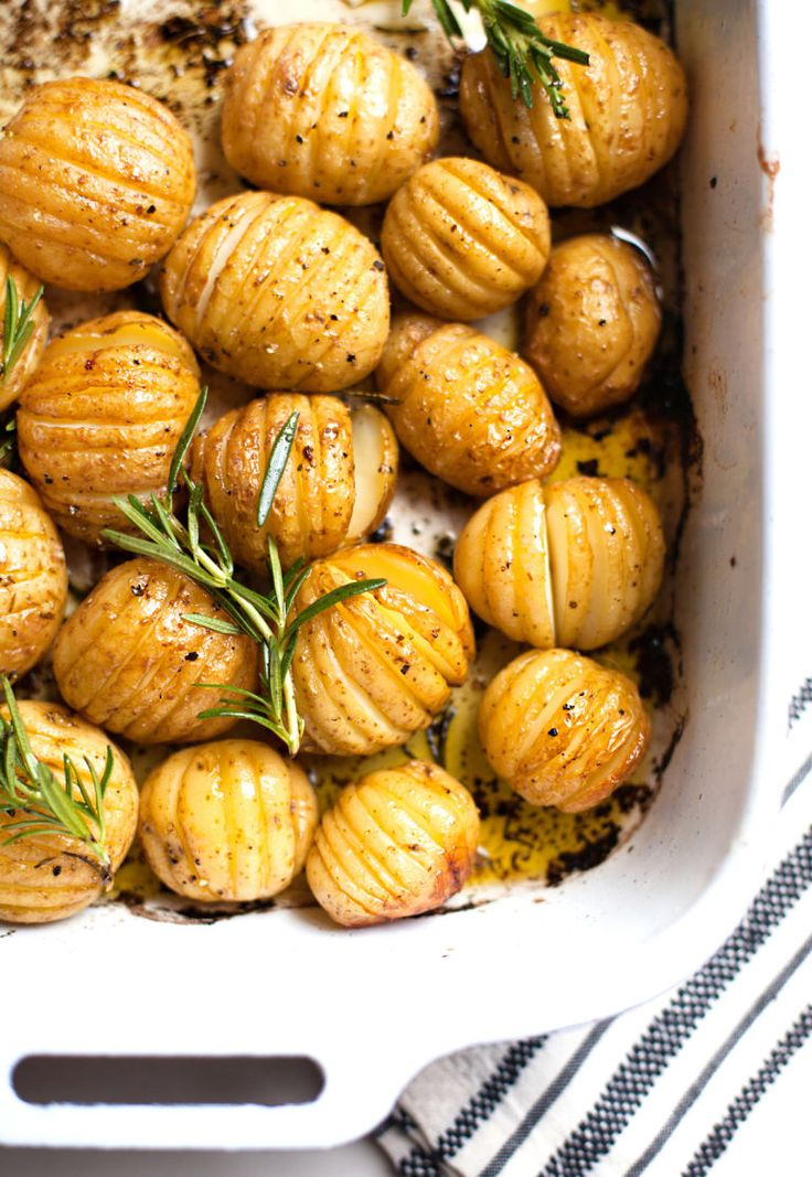 Lemon and Rosemary Roast Potatoes  Light, simple, crazy delicious.  Get the recipe from Just Easy Recipes.