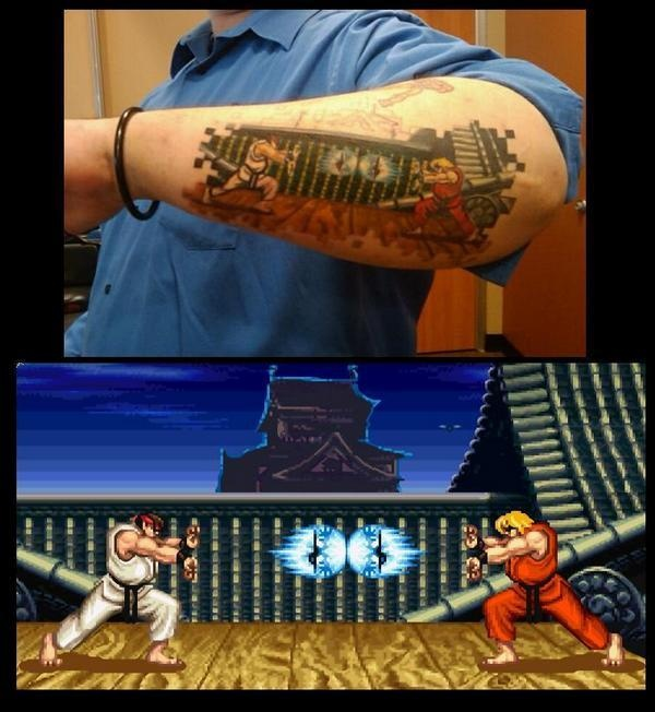Ridiculous Street Fighter Tattoo is Ridiculous(ly awesome) not, cd