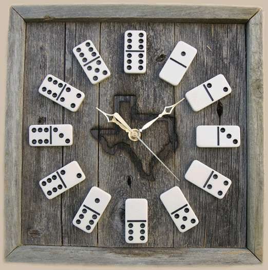 I love this Domino Clock, minus the state in the middle.