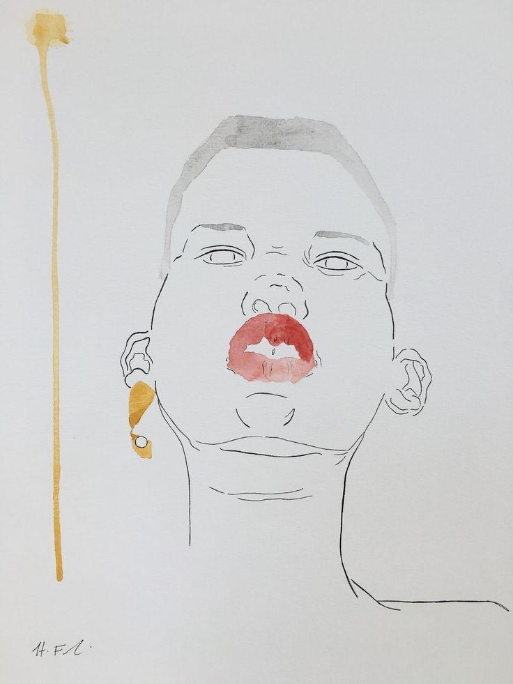 Hayleyfrankart  #hayleyfrankart #art #artist #design #artistonpinterest #watercolourpainting #painting #portrait