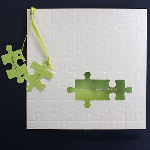 Einladungskarte Puzzle