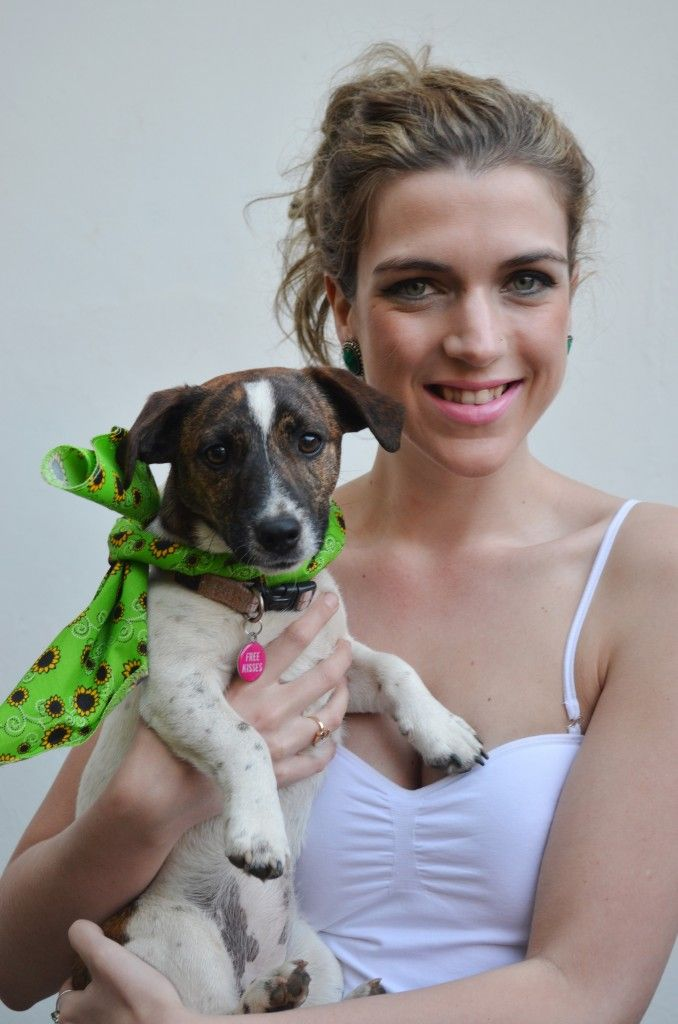 Glitz and Grammar blog post: 4 cute ways to wear your bandana. Dress your dogs up!