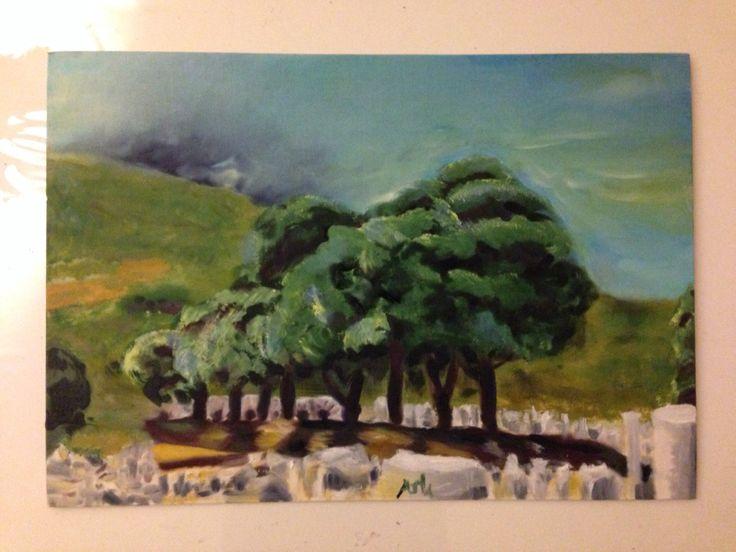 Aslı 35x50 oil paint on canvas