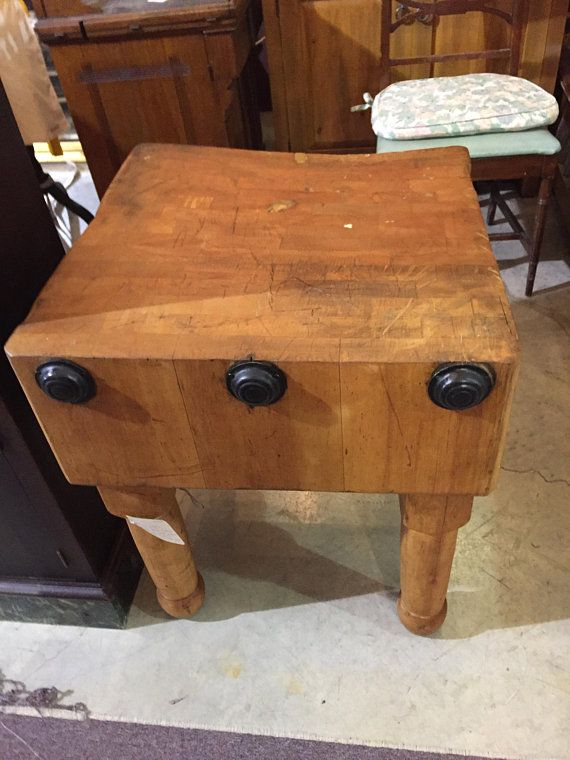 This Is An Antique Old Butcher Block Of Maple Reinforced With Metal Date Stamped 1 25 23 On Under Side Butcher Block Tables Block Table Butcher Block