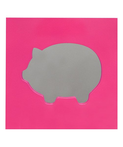 Look at this Studio BGD Atomic Pink Piggy Mirror Wall Art on #zulily today!