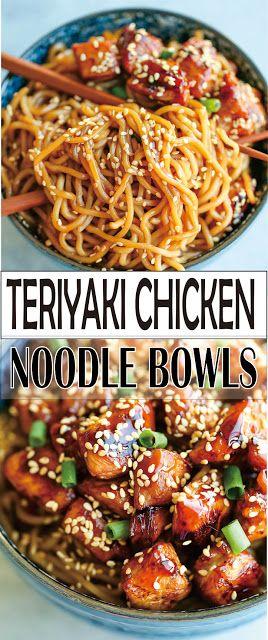 TERIYAKI CHICKEN NOODLE BOWLS | Simple Recipes