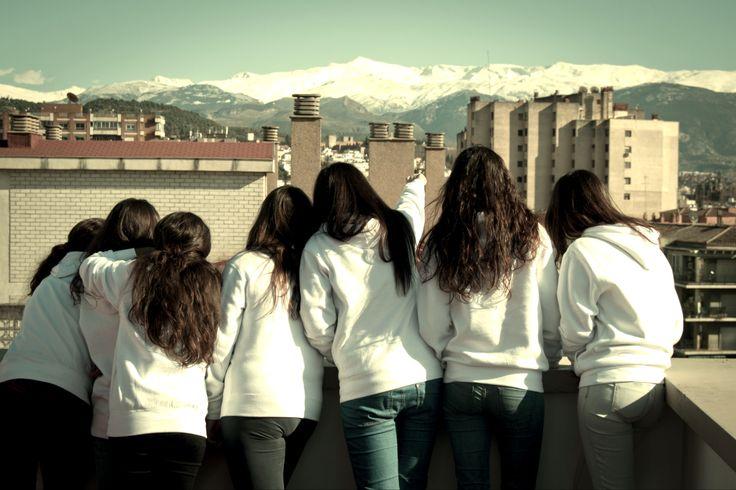 Increibles vistas a #Sierranevada desde nuestra terraza en el CM Montaige. #Granada #Andalucia #PasajealaUniversidad