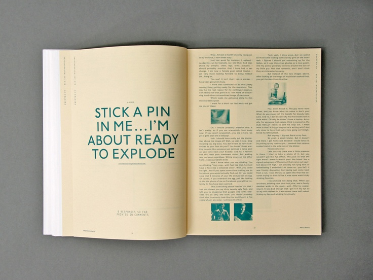 Bureau Collective (Rosario Florio and Larissa Kasper). Magazine (The Spontaneous Appearance of Similar Opinions) made from blog entries. #magazine #print