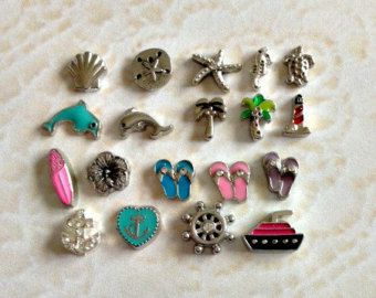 Hair stylist floating charms for memory by memorylocketsandmore