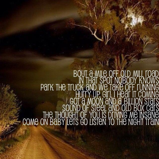 Night Train - Jason Aldean Lyrics