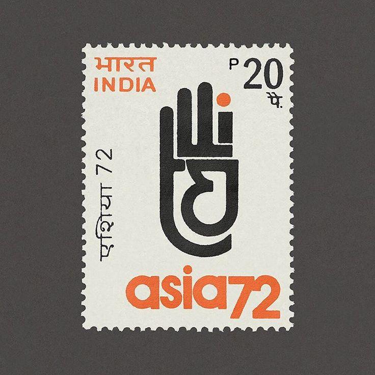 Asia '72, New Delhi. India, 1972. Design: India Security Press. #graphilately #mnh #graphiIndia